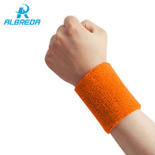 ALBREDA 15*7.5cm 1/ cotton elastic bandage hand sport wristband gym support wrist brace wrap fitness tennis polsini sweat band(China)