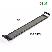 75-95cm Aquarium Fish Tank SMD Led Light Lamp 18W 2 Mode 90 White+18 Blue EU/UK/US Plug Marine Aquarium Led Lighting Aqua(China)