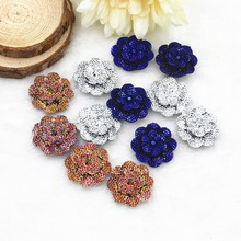 50pcs/lot flat back resin flower  DIY resin cabochons accessories mix colors 25mm