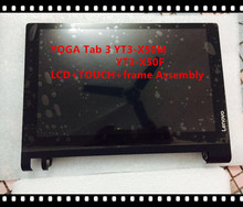 "10.1""inch For Lenovo Tab2 A10-30 tablet TB2-X30F X30M LCD YOGA Tab 3 YT3-X50M YT3-X50F Touch+LCD+frame Assembly Free shipping"