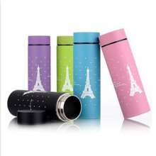 Stainless Steel 304 Flask Cute Thermos Flask Coffee Thermos Cup Mug 300ml Stainless Woman Termo Cups Insulated Tumbler Cups Pink(China)