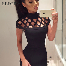 BEFORW Sexy Women Dress Summer Casual Womens Bodycon Dresses Big Size Women Clothing Mini Club White Black Bandage Pencil Dress(China)