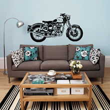 D3681 Motorbike Wall Art Sticker Classic English Motorcycle Decal Car Wallpaper Mural Wall Stickers for Home Decor(China)