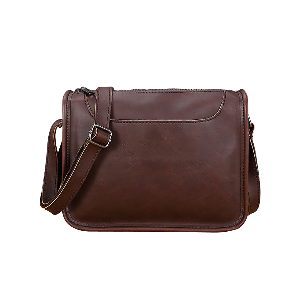 Soft Crazy Horse Leather Men Single Shoulder Bag Business Bag Simple Retro Crossbody Bag<br>