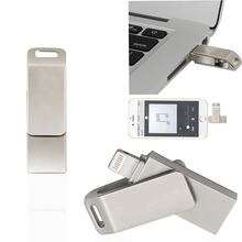 Pendrive 128GB OTG Rotate flash drive usb flash drive 16gb 32gb 64gb pen drive usb 2.0 u disk for iphone/ipad/ipod key(China)