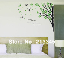 [Fundecor] forever with you new large green plant wall stickers living room TV sofa background decor home decals  5014