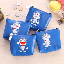 Hot cheap cartoon storage bag blue fat coin bag cat waterproof headset bag make up storage organizer hot(China)