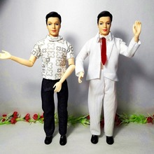 Girls Toys 1 male fashion doll,doll body+head+clothes+shoes for barbie ken,one doll jointed movable girls gifts