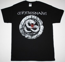 Crew Neck Men Graphic Short Sleeve Whitesnake Sign Hard Rock Band David Coverdale Deep Purple  New Black T Shirts