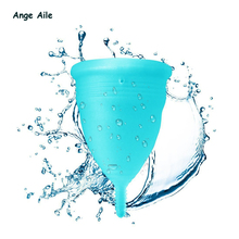 Ange Aile Feminine Hygiene Menstrual Cup Medical Silicone Cups Lady Alternative Pads Tampons For Women Hygiene Care S Or L Size