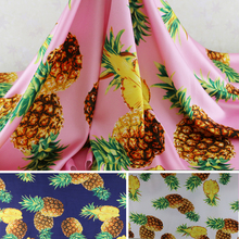 Soft Wedding Dress Material Large Pineapple Crepe Satin Charmeuse Fabric(China)