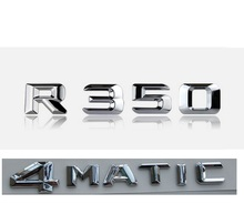 "Chrome "" R 350 4 MATIC "" Car Trunk Rear Letters Words Badge Emblem Letter Decal Sticker for Mercedes Benz R Class R350"
