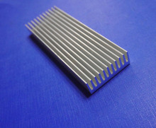 2PCS/lot Dense tooth aluminum heat sink profiles radiator manufacturer 40*13*120mm circuit board PCB power amplifier heat sink(China)