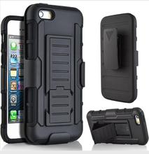 3 in 1 Combo Military Phone Cases Belt Clip Holster Stand Armor Case for iPhone 5 Shockproof Hard Case for iPhone 5S case