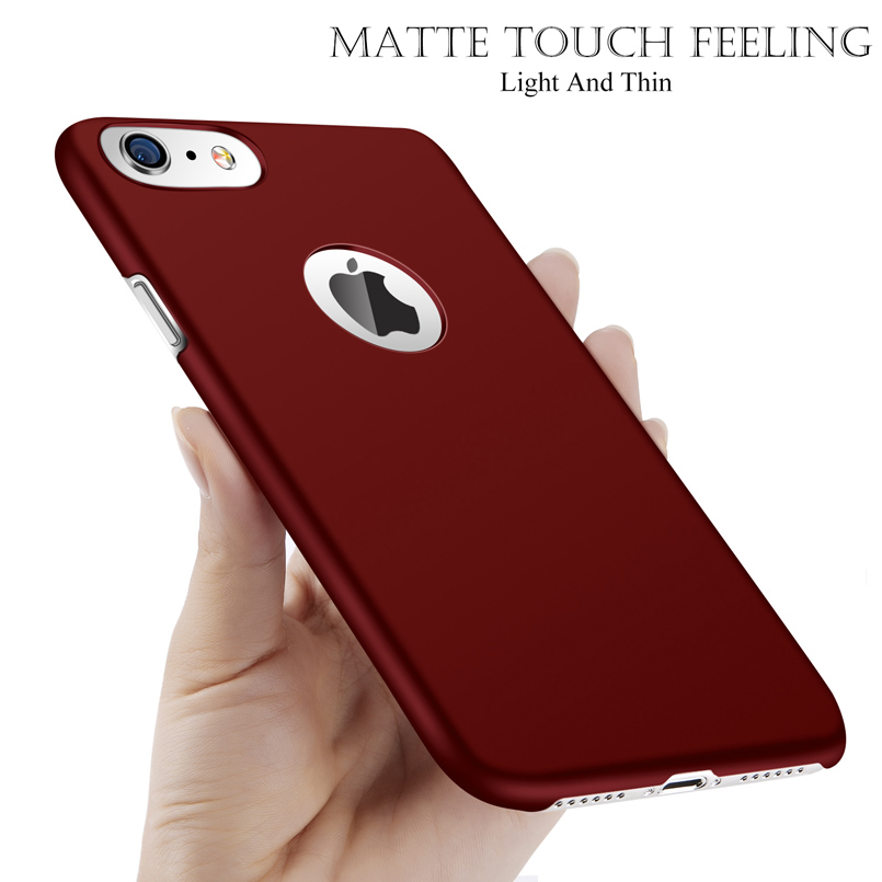 Ultra Thin Hard PC Matte Case For iPhone X XS Max XR Simple Plain Solid Phone Cover Coque For iPhone 8 7 6 6s Plus 5 5s SE Capa