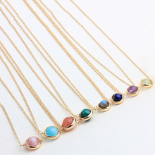 Crystal Bead Necklace  Delicate Natural high quality Crystal Rock handmade Retro Trend pendant jewelry