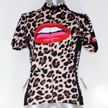 New Sexy Leopard Kiss Cycling jersey Top Quality Cycling Clothing Fahion short sleeve jersey for women Size S~2XL
