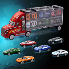13pcs/lot Car Toys For Boys Alloy Truck With 12PCS Mini Cars Birthday Christmas Gift For Kids