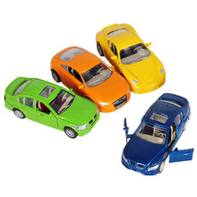 1Pcs Mini Metal Sports Car Model Open doors Pull Back Cars Toys for Boys Play Vehicles Early Educational Toys Birthday Gift(China)