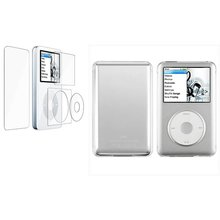 Clear Crystal Hard Case Skin Cover and 2in1 Screen Protector For Apple iPod Classic 80GB 120GB 160GB