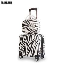 TRAVEL TALE Cartoon Kids luggage set 18 inch travel suitcase with 12 inch cosmetics case