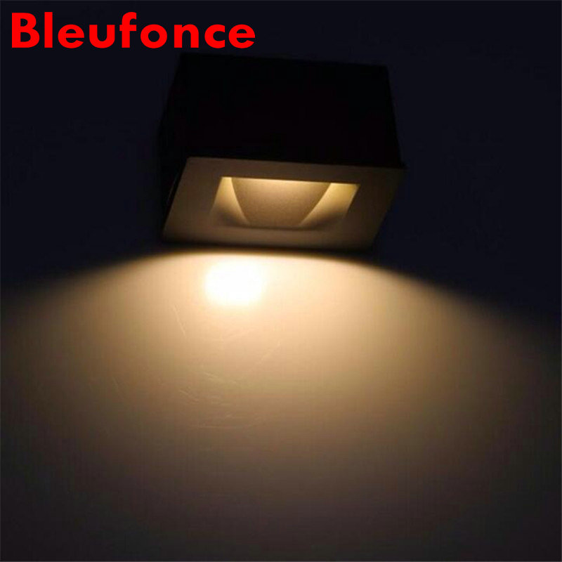 3W Square Embedded LED Footlights Background Club Hotel Villa Stair Step Lamp Aisle Wall Corner Lights With Insert Box k60<br><br>Aliexpress