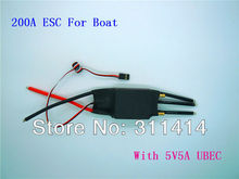 1piece 2-7S Lipo 200A ESC 5V/5A UBEC Brushless Speed Controller ESC For RC Boat UBEC200A/S With Water Cooler High Quality