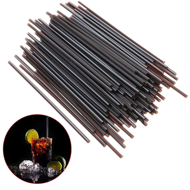 100pcs/lot Mini Black Cocktail Straws Plastic Drinking Straw DIY Party Straw For Home Birthday Wedding Party Supplies