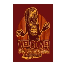 Welcome Halloween Garden Flag Now You Are Dead Designed With Double Sided Printing Decorative Outdoor And Indoor Banners