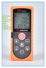 150M Laser Distance Meter Rangefinder M / In / Ft three units with Level Bubble and Data Record(China)