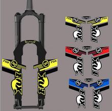 Reflective road mtb mountain bike frame stickers for fox, rockshox fixed gear bicycle fork sticker,bicycle accessories