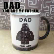 Light Magic Mug Star War DAD,You are my father cute mug color Changing mugs cup coffee Mugs best gift for your kids or youself(China)