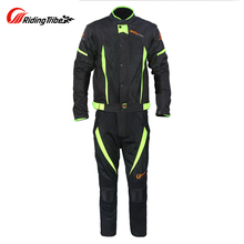 Riding Tribe Motorcycle Jacket Moto Pants Racing Clothing Set Windproof Waterproof Riding Jacket Pants Suit with Liner Protector(China)