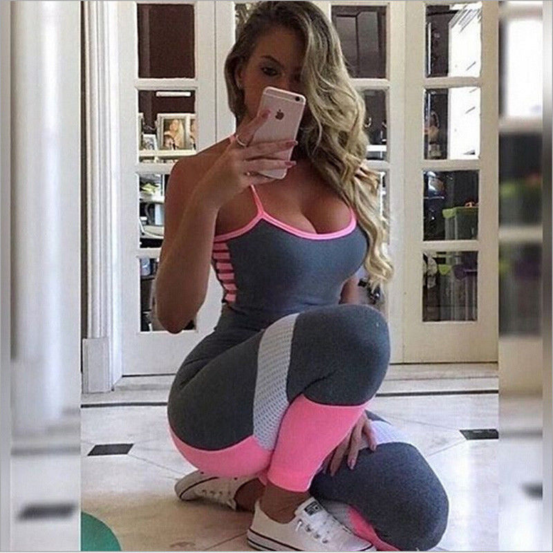 2017-Brand-New-US-Stock-Women-Ladies-Gym-Playsuit-Clothes-Exercise-Sport-Top-Running-Sportswear-Soft (2)