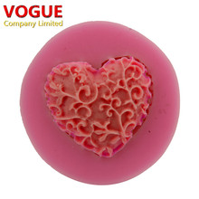 Lovely Lace Design Cake Decorator Love Heart Styling Soap Silicone Mould Chocolate Fondant  Mould N2954