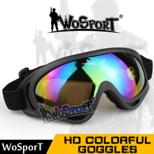WOSPORT Tactical Military UV Protection Anti-sandstorm & Collision Goggle Sunglasses Paintball Eye Protection Airsoft CS Glasses