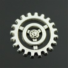 Buy 40pcs 17mm Antique Silver Color Gear Charms, Steampunk Gear Charm, Fashion Diy Handmade Craft Jewelry Finding for $4.99 in AliExpress store