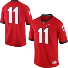 NIKE Georgia Bulldogs Aaron Murray 11 College Ice Hockey Jerseys Limited Jerseys - Red Size M,L,XL,2XL,3XL(China)