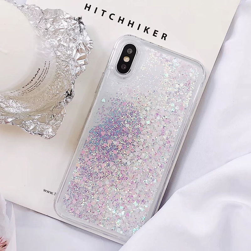 Soft Glitter Dynamic Liquid Quicksand Case for iPhone X Cases 5S SE 6S Plus for iPhone 7 Cover 8 Plus Silicon Case For iPhone 8 (5)
