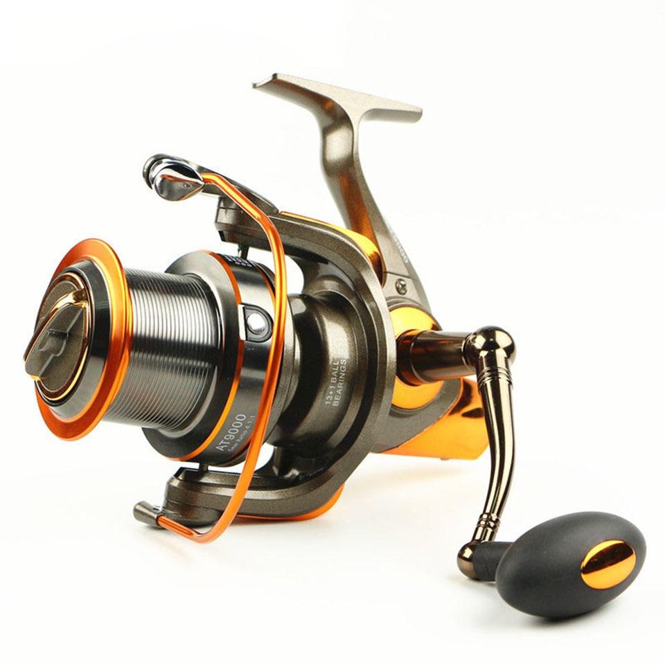 New 13+1BB 4.6:1 Metal Spinning Fishing Reel Large Sea Wheel Trolling Surf Reels 8000 9000<br>