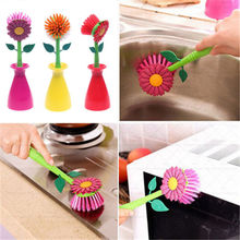 Sun Flower Kitchen Cleaning Brush Pan Pot Brush Blush Multi Bathroom Brush Cleaner Tool
