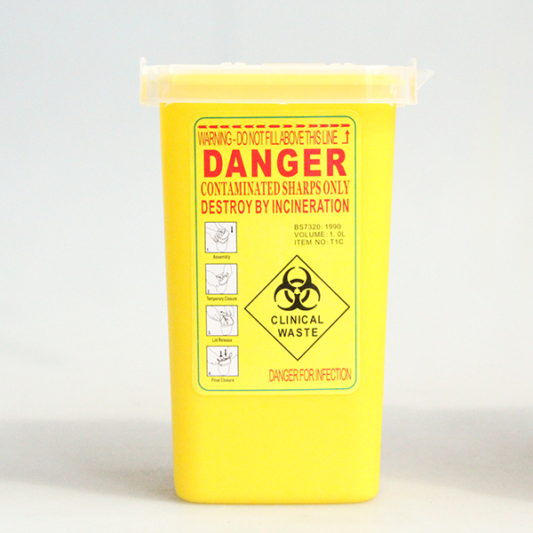 1 PC Yellow Plastic Sharpe Containers for Tattoo Artists Newest Tattoo Sharps Container Biohazard Needle Disposal FREE Shipping