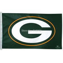 Green Bay Packers Flag 3x5 FT Banner 100D Polyester NFL flag 183, free shipping(China)