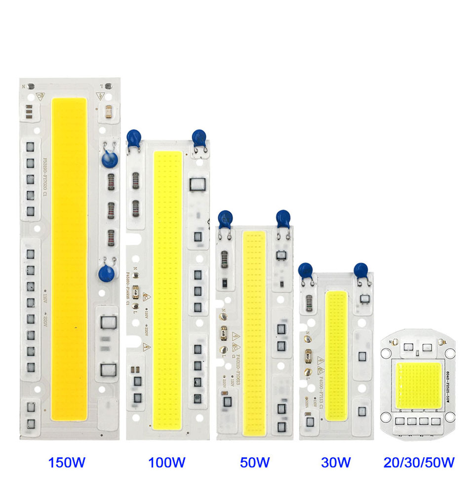 AC 110V 220V LED COB Lamp Chip 20W 30W 50W 100W 150W Full Spectrum LED Plant Grow Light Driverless Smart IC DIY LED Floodlights (4)