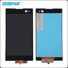 new black For Sony Xperia C3 D2533 D2502 LCD Display touch screen with digitizer full Assembly replacement parts