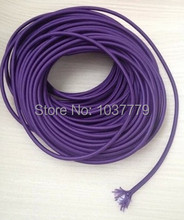 50meter round fabric wire 2*0.75 core cable Purple color Fabric cable