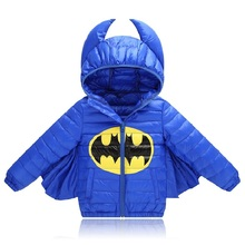Kids boys&Girls Jacket Winter Coat Warm Down Cotton jacket Hallowmas for Boys Outerwear Coat Christmas Baby clothes(China)