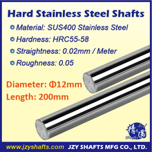 Dia 12mm L200mm stainless hardened shaft SUS400 stainless steel rod surface hardness HRC55-58 high roughness 0.05 super smooth