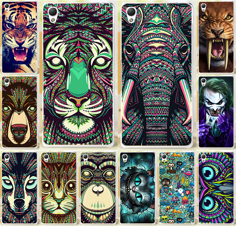 Cool Tiger Lion Wolf Rhinoceros elephant Animal skull PC cell phone Case Sony Xperia Z5 Mini Compact Cases back cover shell