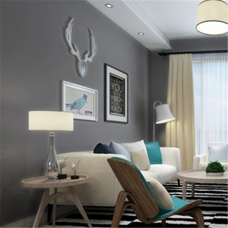 beibehang Modern solid color wallpaper office bedroom living room restaurant photography studio gray papel de parede wall paper<br>